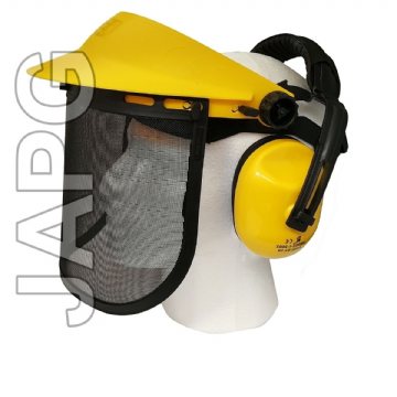 Face Shield Guard Visor & Ear Defender Muffs Protector Set, Trimmer, Strimmer, Brush Cutter